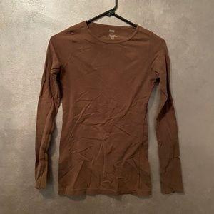 Shade Clothing Brown Long Sleeve Top Small